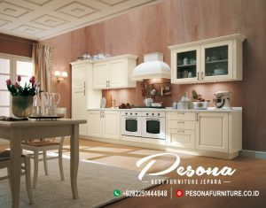 Jual Furniture Kitchen Set Model Jepara Terbaru