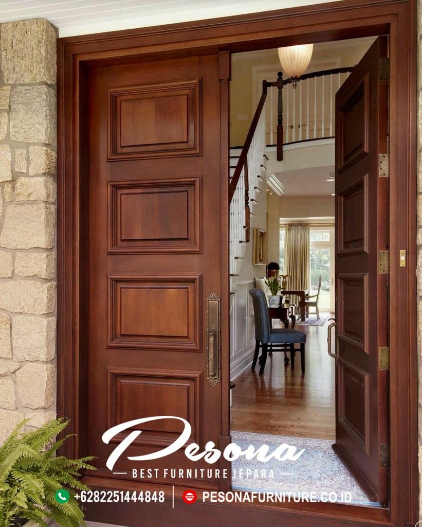 Jual Kusen Pintu Rumah Minimalis Jepara | PESONA FURNITURE