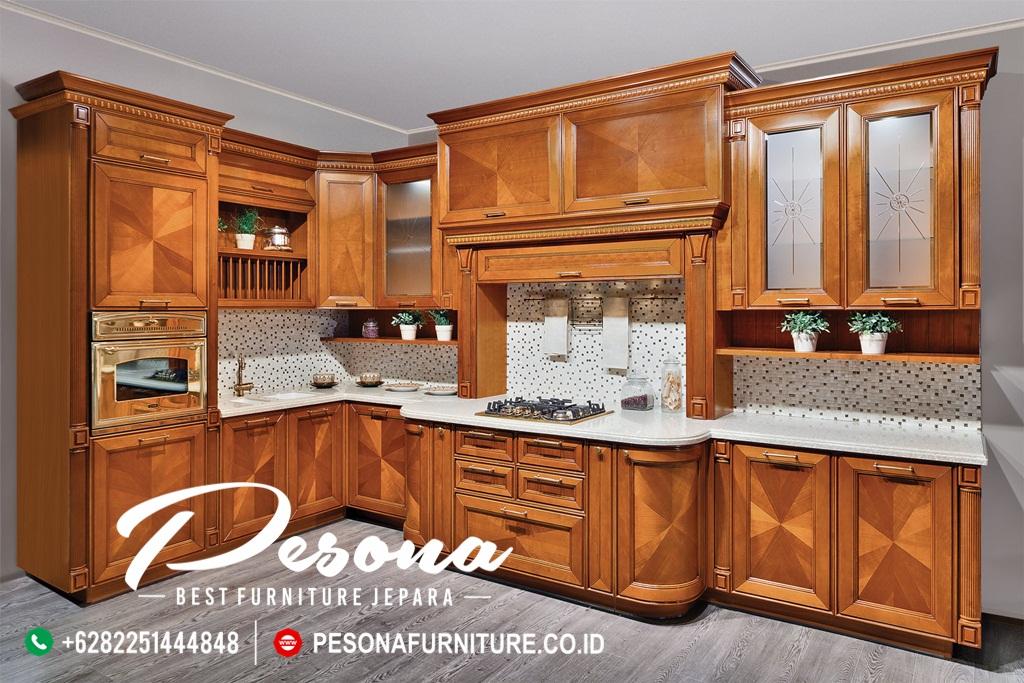 Kitchen Set Jati Klasik Minimalis Jepara Pesona Furniture