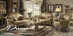 Set Sofa Tamu Duco Gold Ukir Klasik Mewah