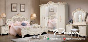 Set Tempat Tidur Duco White Mewah Terbaru