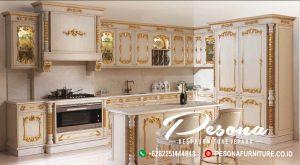 Kitchen Set Desain Ukir Klasik Khas Furniture Jepara