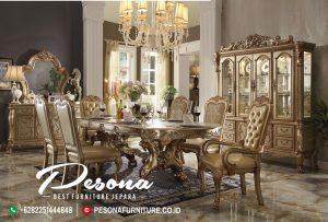 Meja Makan Mewah Terlaris Furniture Jepara Desain Klasik