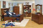 Set Tempat Tidur Anak Laki-Laki Desain Kayu Jati