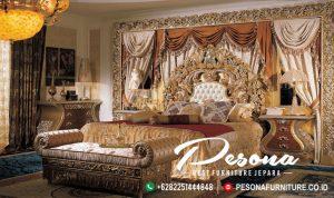 Set Tempat Tidur Mewah Jepara Desain Ukir Istana
