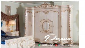 Almari Pakaian Duco Putih Mewah Jepara Pintu 6