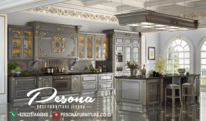 Kitchen Set Dapur Klasik Mewah Luxcury Terbaru