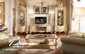 Bufet Tv Dengan Ukir Mewah Klasik Khas Jepara, Set Bufet Tv Mewah Terbaru
