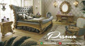 Model Tempat Tidur Full Ukir Bunga Mawar Mewah, Set Kamar Tempat Tidur Klasik