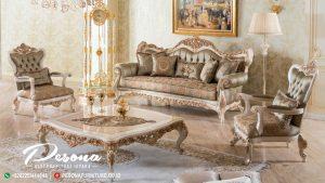 Set Sofa Kursi Tamu Nuansa Ukir Klasik, Sofa Tamu Mewah Jepara Terbaru