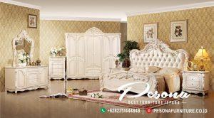 Set Tempat Kamar Tidur Ukir Mawar Mewah, Desain Tempat Tidur Mewah