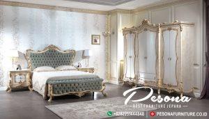 Set Tempat Tidur Duco Mewah Ukir Klasik Pintu 6, Kamar Tidur Mewah