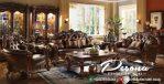 Sofa Tamu Mewah Jati Natural Klasik, Set Sofa Tamu Mewah Terbaru