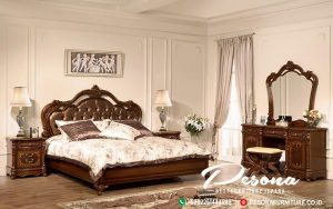 Tempat Tidur Jati Ukir Jepara Natural, Model Tempat Tidur Jati Mewah Terbaru