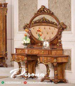 Meja Rias Jati Ukir Klasik Mewah, Meja Rias Terbaru Furniture Jepara