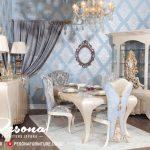 Set Meja Makan Eropa Style Mewah, Meja Makan Mewah Terbaru