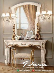 Model Terbaru Meja Rias Mewah Jepara, Meja Rias Duco Putih Klasik
