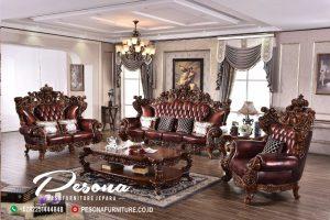 Set Sofa Tamu Mewah Jepara The King Full Ukir, Desain Sofa Kursi Tamu Terbaru