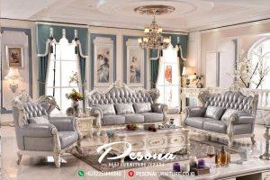 Sofa Tamu Mewah Terbaru Dengan Desian Eropa, Set Sofa Tamu Klasik Mewah Jepara