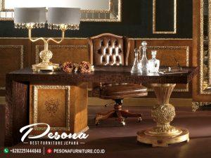 Desain Meja Direktur Kantor Royal Mewah, Jual Meja Kantor Ukir Jepara