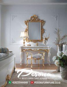 Desain Terbaru Furniture Meja Rias Mewah Klasik, Meja Rias Mewah Ukir Terbaru Jepara