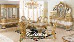 Meja Ruang Makan Mewah Ukir Klasik Arab, Jual Meja Makan Mewah Jepara