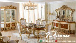 Ruang Makan Dengan Desain Meja Makan Mewah Turky Style Terbaru