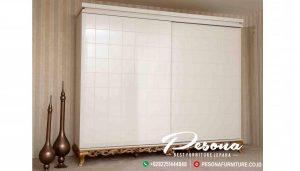 Almari Pakaian Pintu Sliding Klasik Desain Terbaru Odasi Mebel Jepara