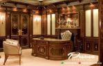 Meja Direktur Kantor Kayu Jati Tpk Jepara Kombinasi Mewah Ukir Klasik Modern
