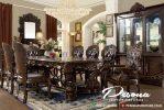 Meja Makan Minerva Mewah Kayu Jati Jepara Dengan 8 Kursi