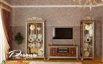 Ruang Tv Dengan Model Bufet Tv Jati Mewah Klasik Jepara Terbaru