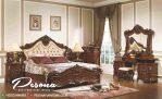 Set Tempat Tidur Jati TPK Mebel Jepara Mewah Dengan Ukir Klasik Bunga