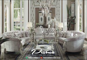 Sofa Tamu Lengkung Mewah Ukir Klasik, Set Sofa Tamu Mewah Jepara