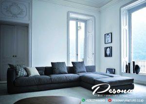 Sofa Tamu Minimalis Sudut L Desain Modern Terbaru Jepara