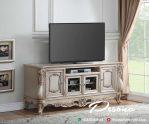 Desain Meja Tv Ukir Mewah Klasik Dengan Bahan Baku Berkualitas