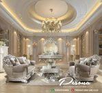 Desain Terbaru Set Sofa Tamu Waldroft Mewah Dengan Ukir Klasik