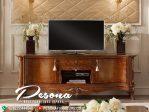 Meja Tv Ukir Desain Klasik Mewah Kayu Jepara Terbaru
