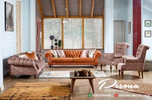 Set Sofa Tamu Retro Modern Minimalis Terbaru Furniture Jepara