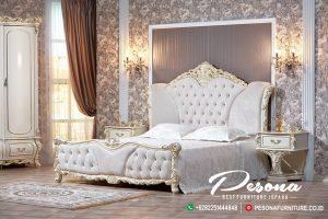 Set Tempat Tidur Duco Putih Mewah, Tempat Tidur Ukir Klasik Khas Jepara
