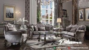 Sofa Tamu Mewah Silver Klasik Terbaru, Jual Sofa Tamu Ukir Mewah