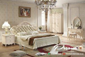 Tempat Tidur Mewah Antik Ukir Klasik, Kamar Tidur Satu Set Mewah