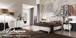 Tempat Tidur Miniamalis Desain Klasik, Set Kamar Tidur Ukir Minimalis