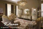 Bufet Meja Dan Tv Mewah Klasik Kombinasi Duco Putih Gold