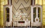 Gambar Bufet Tv Mewah Jepara Model Luxcury Klasik Terbaru