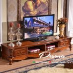 Meja Tv Mewah Jepara Dengan Desain Ukir Klasik Terbaru
