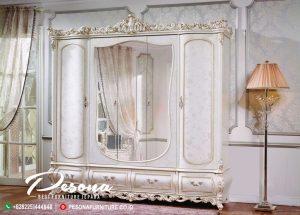 New Desain Lemari Pakaian Ukir Klasik Mewah Furniture Jepara