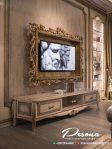 New Desain Meja Tv Mewah Jepara Dengan Nuansa Klasik Elegan