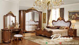 Set Kamar Tempat Tidur Klasik Mewah Jepara Bahan Kayu Berkualitas