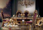 Set Meja Makan Mewah Jepara Dengan Ukir Klasik Model Terlaris