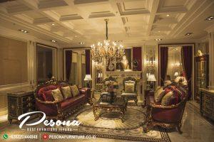 Set Sofa Ruang Tamu Mewah Luxcury Klasik Dengan Finising Natural Gold